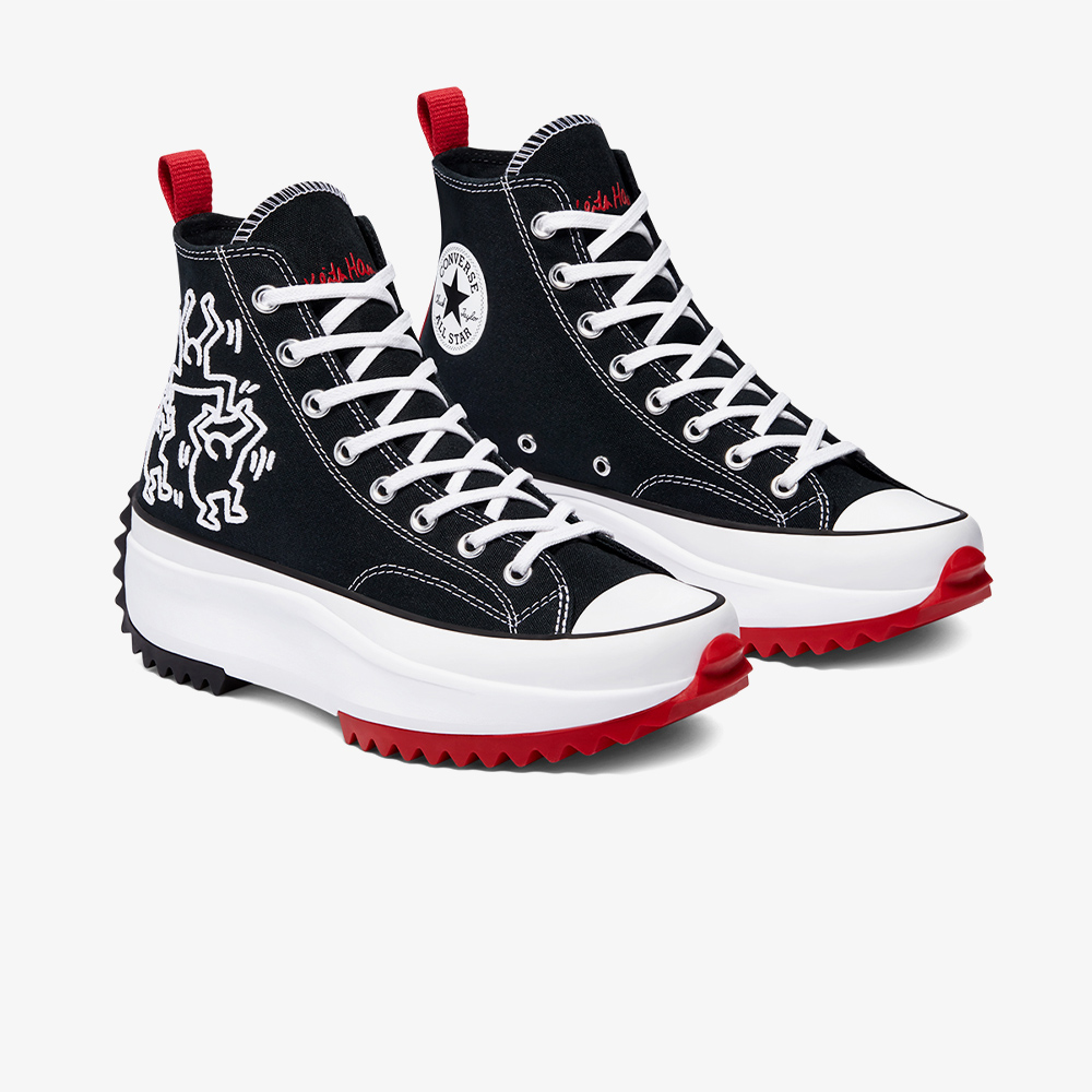 Converse x Keith Haring Run Star Hike Hi Kadın Siyah Sneaker