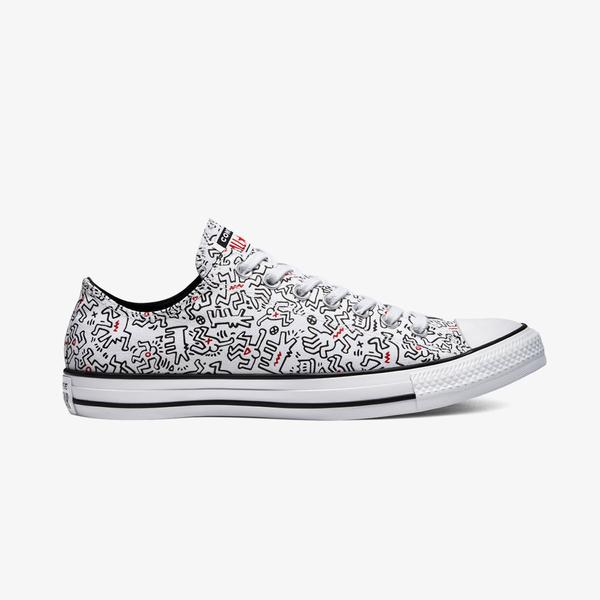 Converse x Keith Haring Chuck Taylor All Star Ox Unisex Beyaz Sneaker