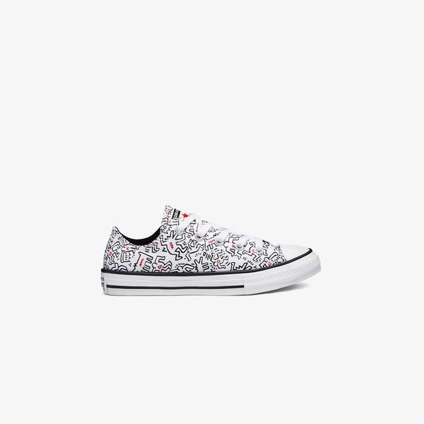 Converse x Keith Haring Chuck Taylor All Star Ox Çocuk Beyaz Sneaker