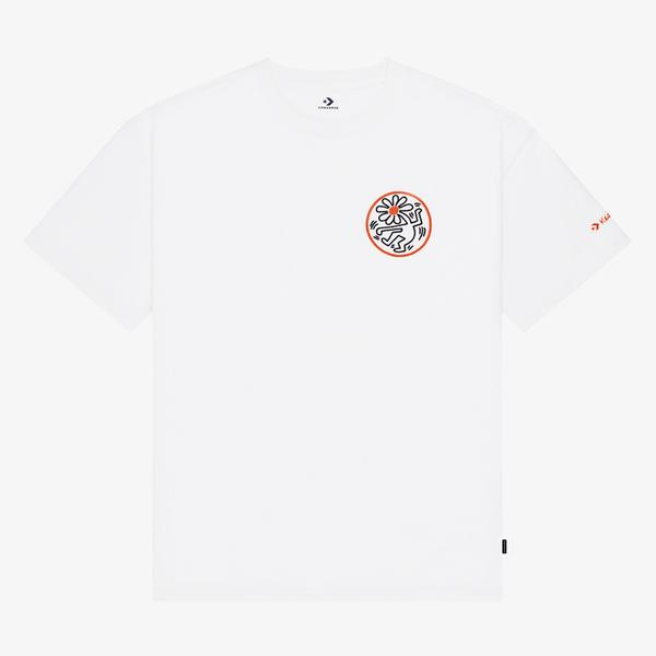 Converse x Keith Haring Elevated Graphic Unisex Beyaz T-Shirt