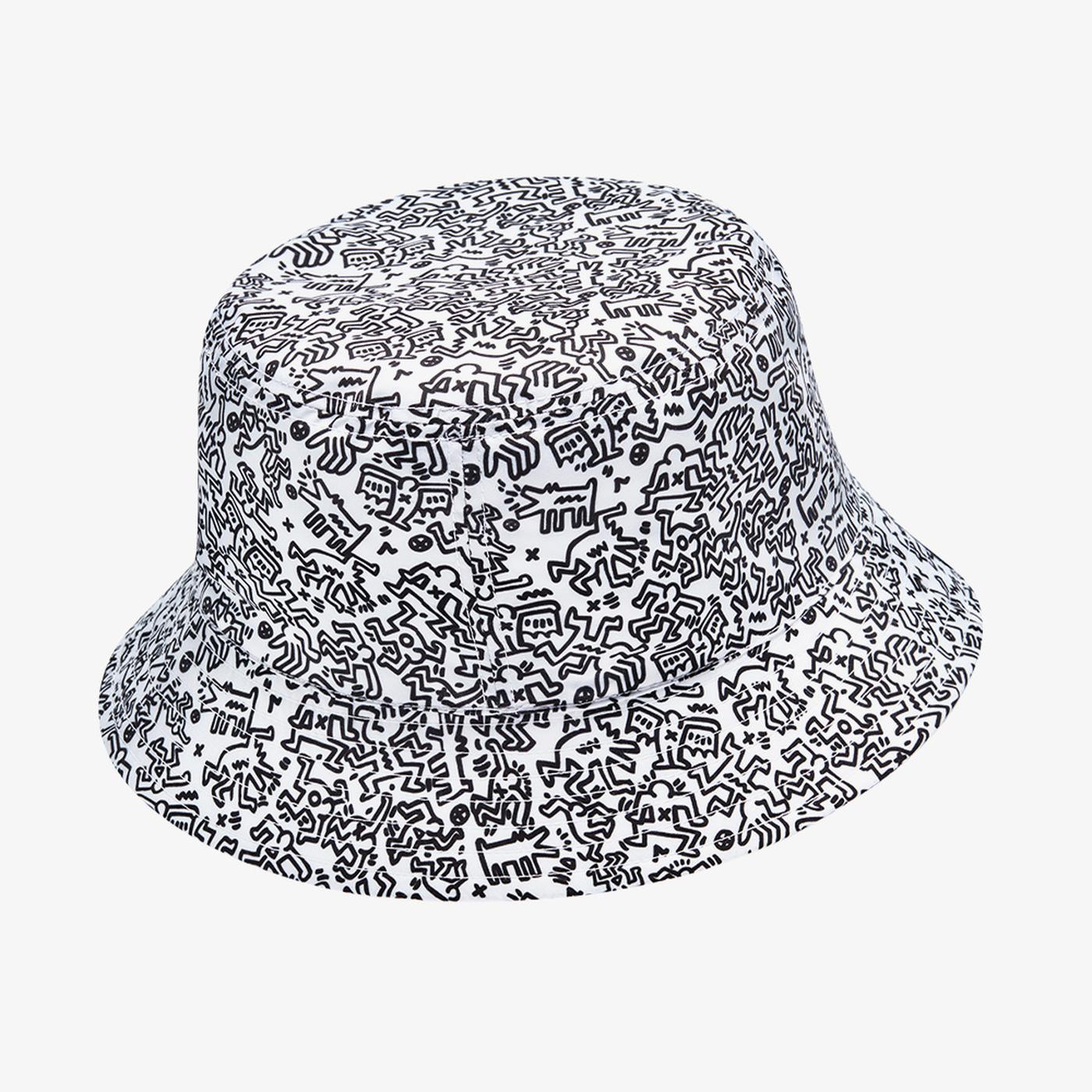 Converse x Keith Haring Çift Taraflı Unisex Beyaz Şapka