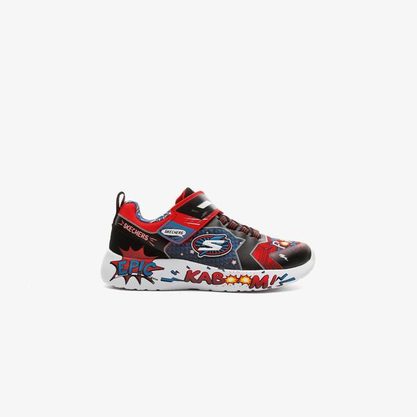 Skechers Dynamight - Defender Squad Çocuk Kırmızı Spor Ayakkabı