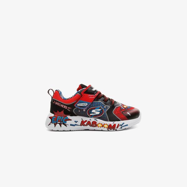 Skechers Dynamight- Defender Squad Bebek Kırmızı Spor Ayakkabı