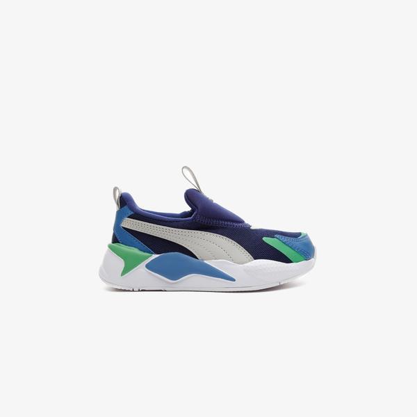Puma RS-X³ Slip On Çocuk Mavi Spor Ayakkabı