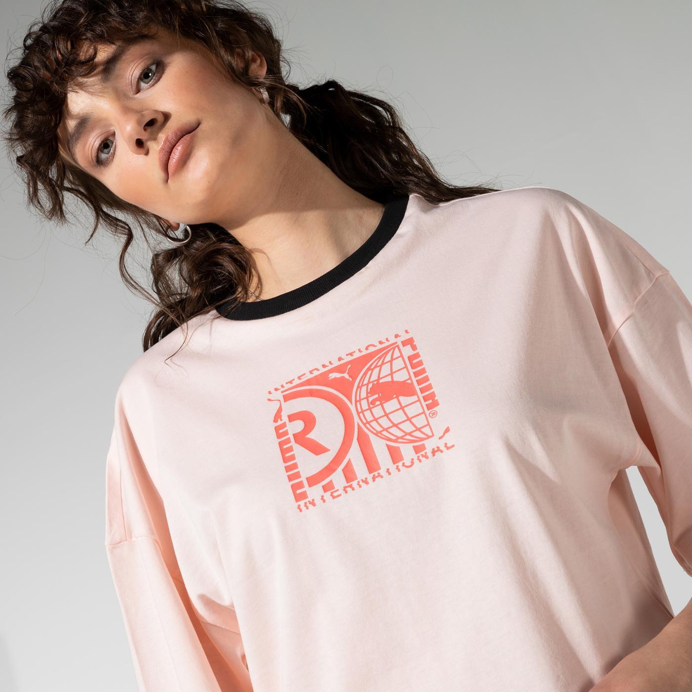 Puma PI Graphic Kadın Pembe T-Shirt