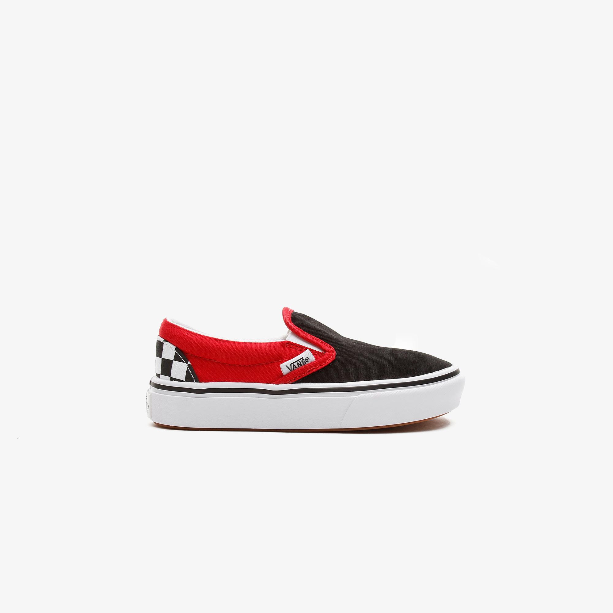 Vans Comfycush Slip-On Checkerboard Çocuk Siyah Sneaker