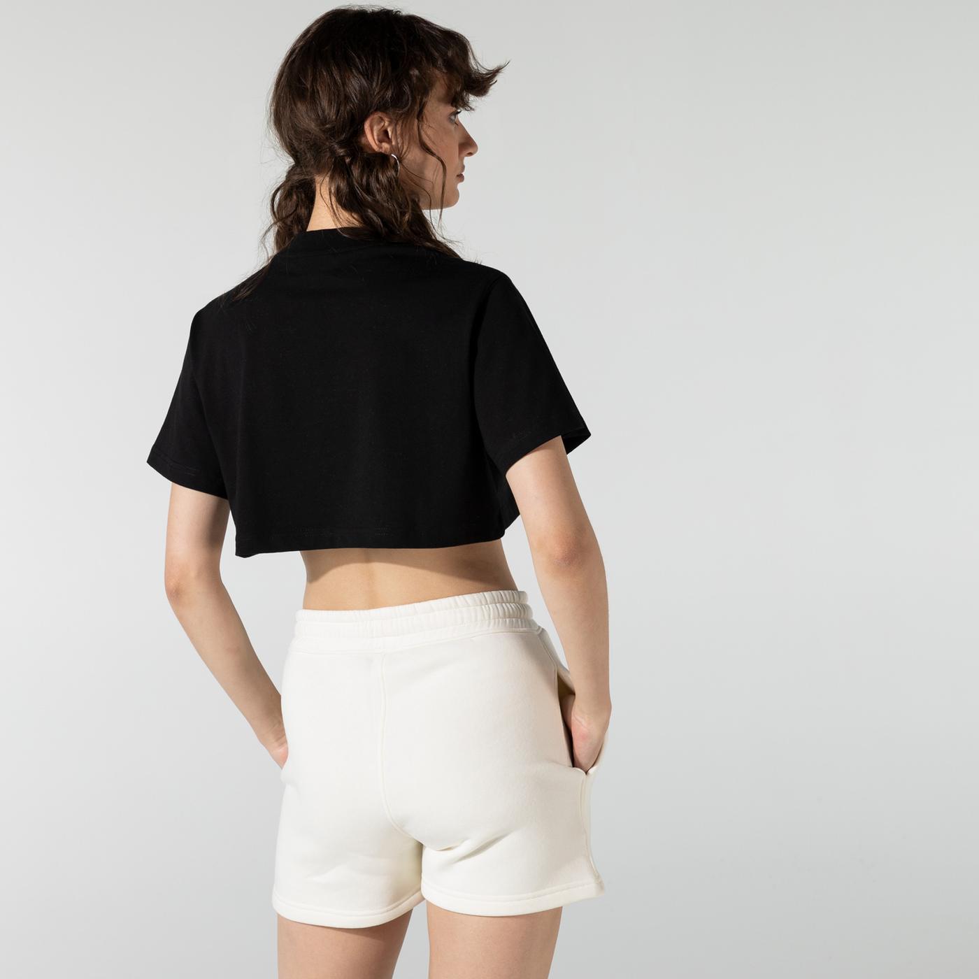 Soon To Be Announced Logo Printed SS Kadın Siyah T-Shirt