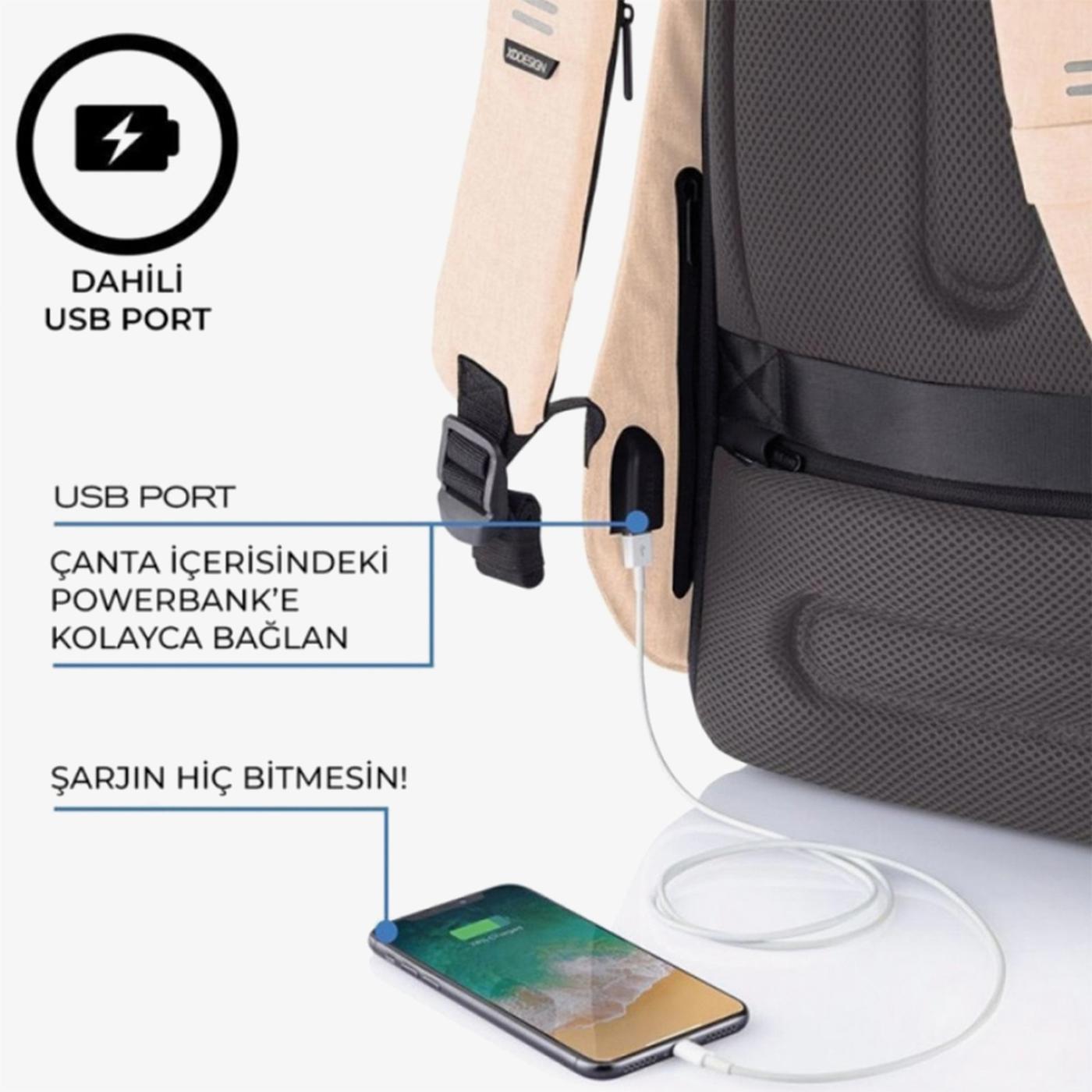 XD Design Unisex Pembe Sırt Çantası