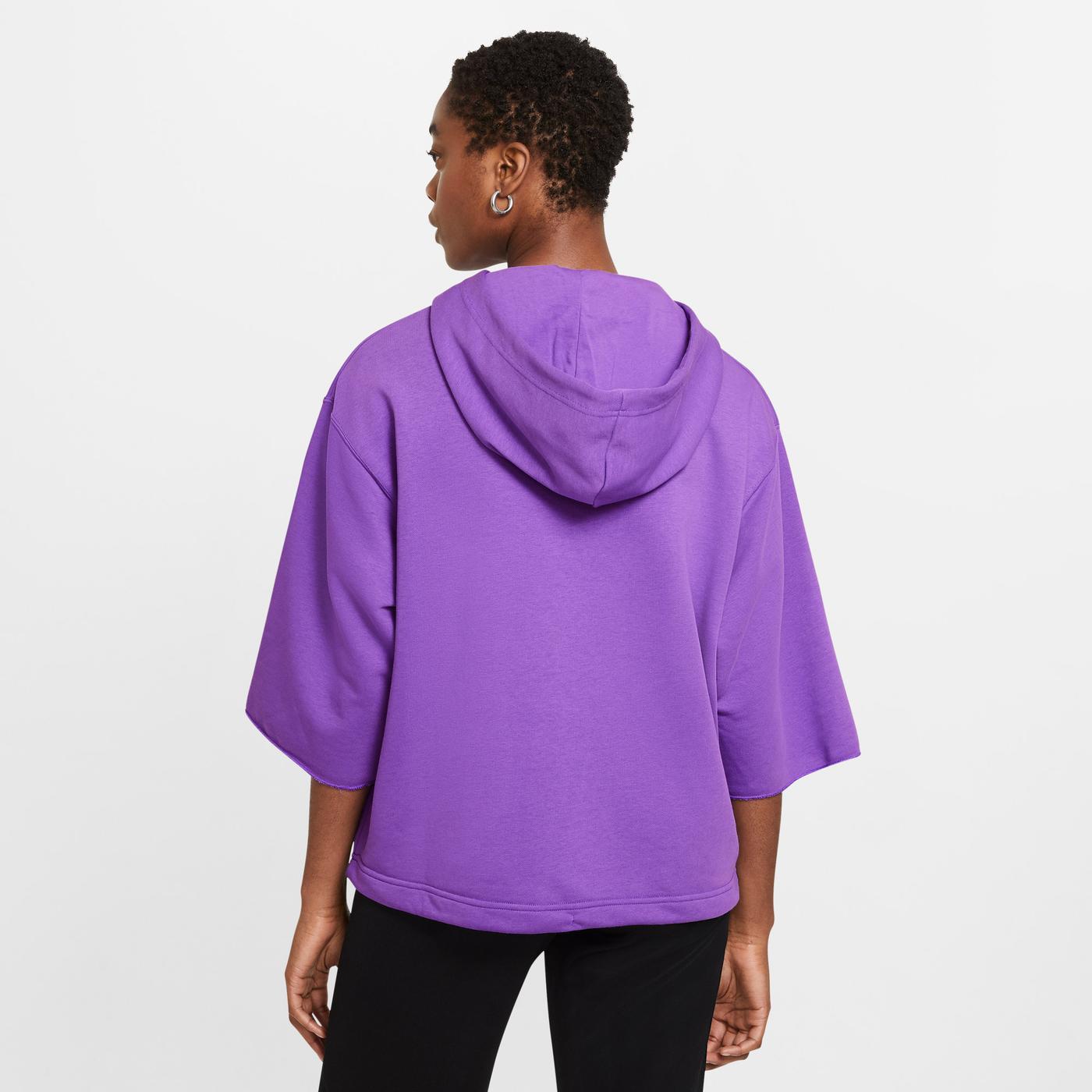 Nike Sportswear Icn Clsh Ft Kadın Mor Sweatshirt