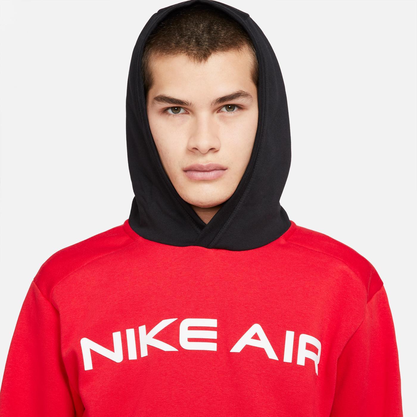 Nike Sportswear Air Po Flc Erkek Kırmızı Sweatshirt