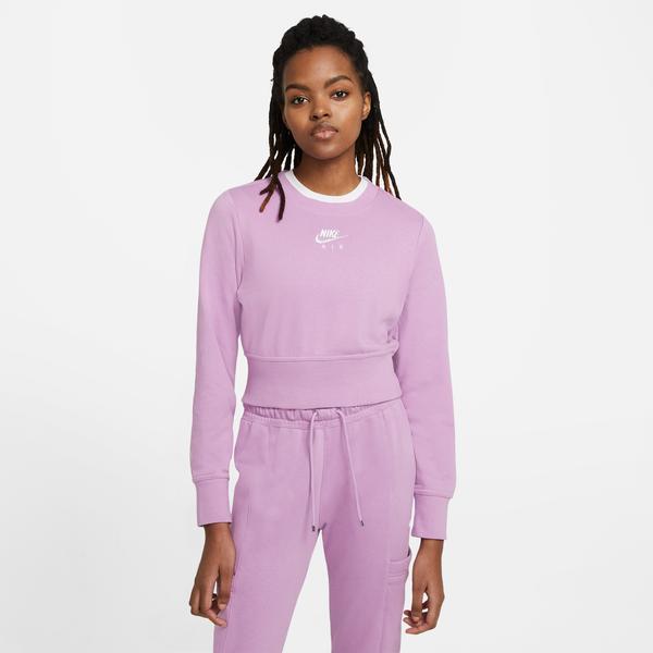 Nike Sportswear Air Crew Flc Kadın Mor Sweatshirt