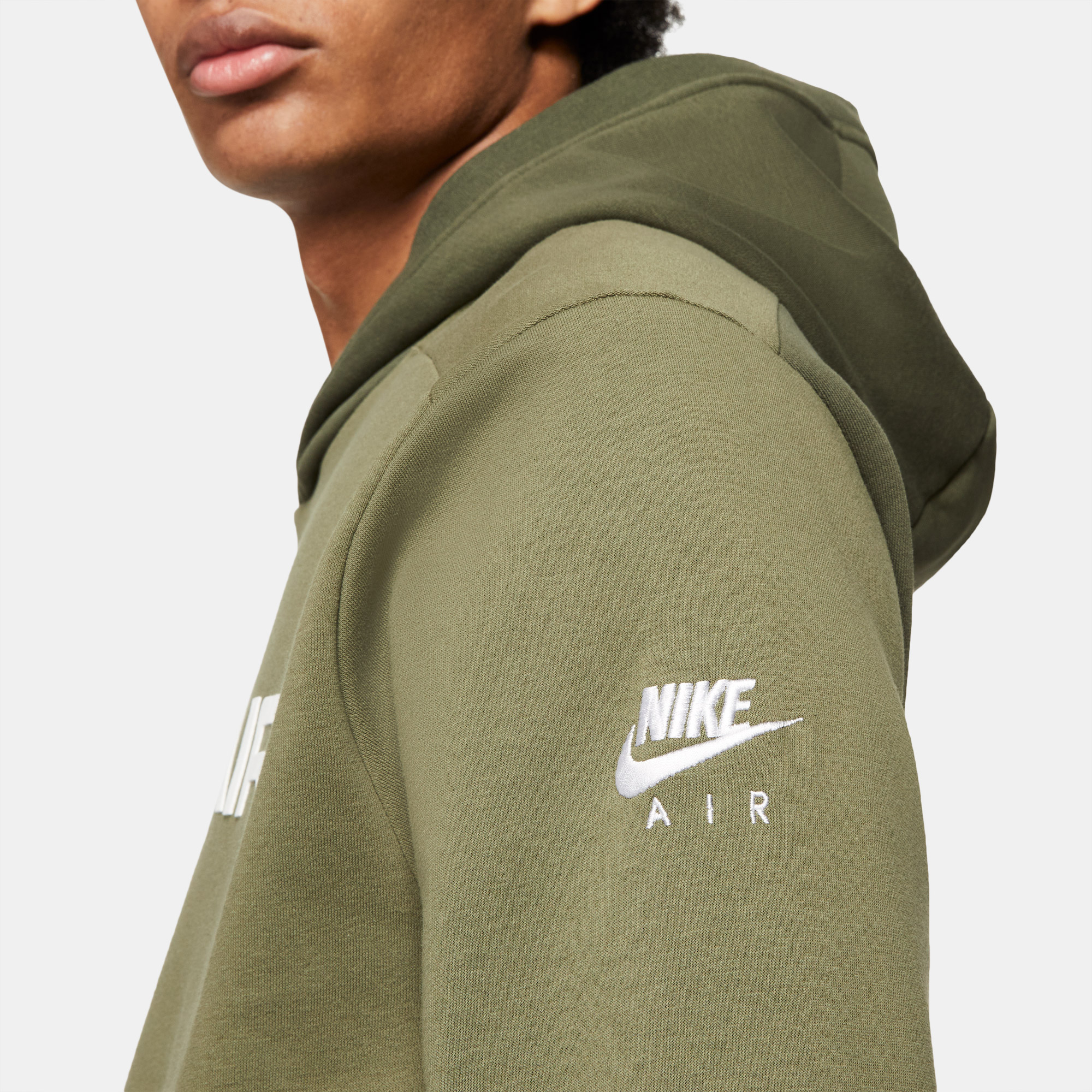 Nike Sportswear Air Pullover Flc Erkek Haki Sweatshirt