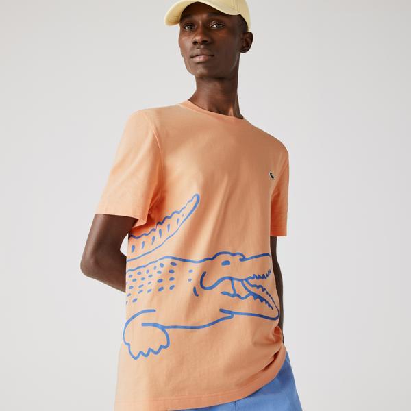 Lacoste Crocodile Erkek Turuncu T-Shirt