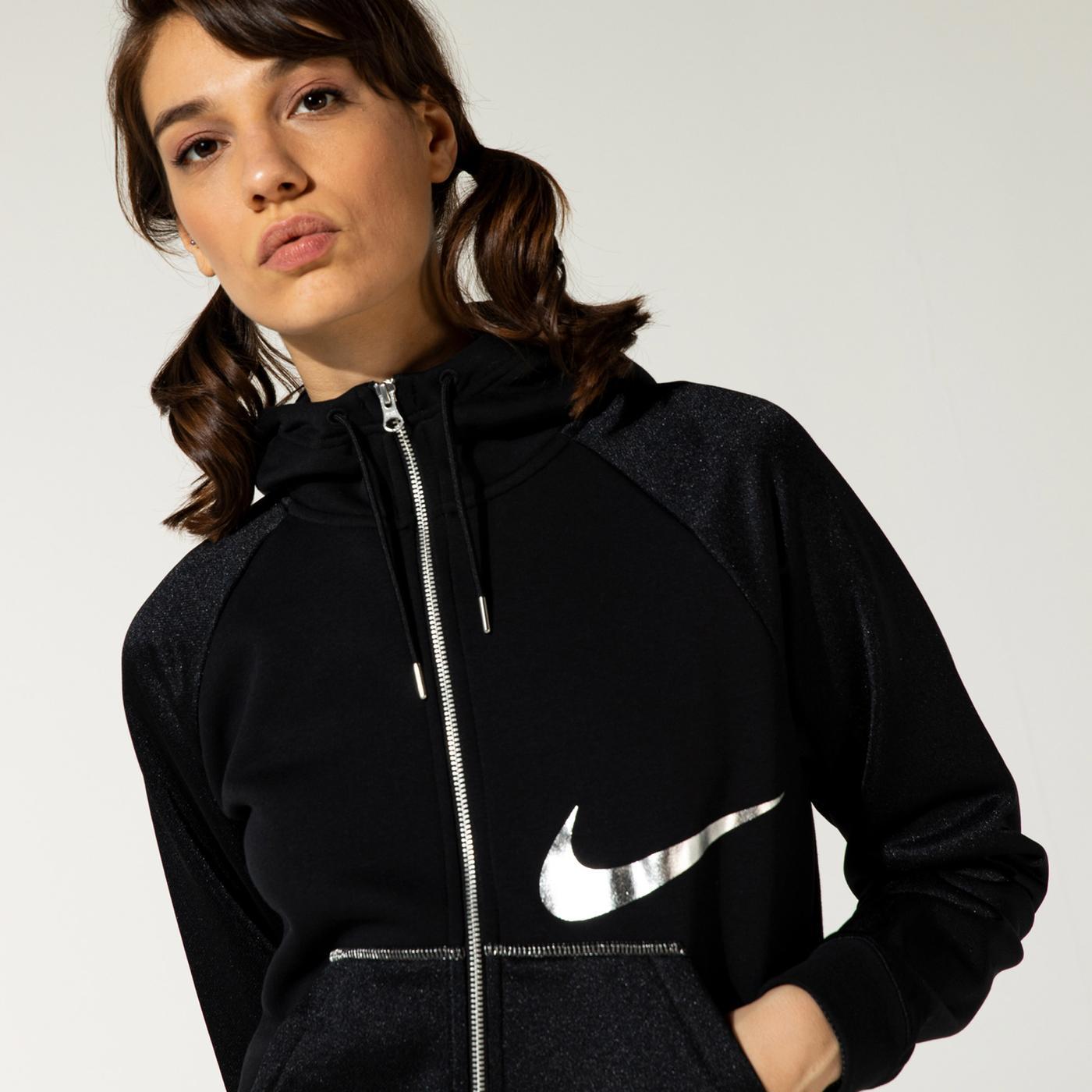 Nike Nsw Icon Clash Kadın Siyah Sweatshirt