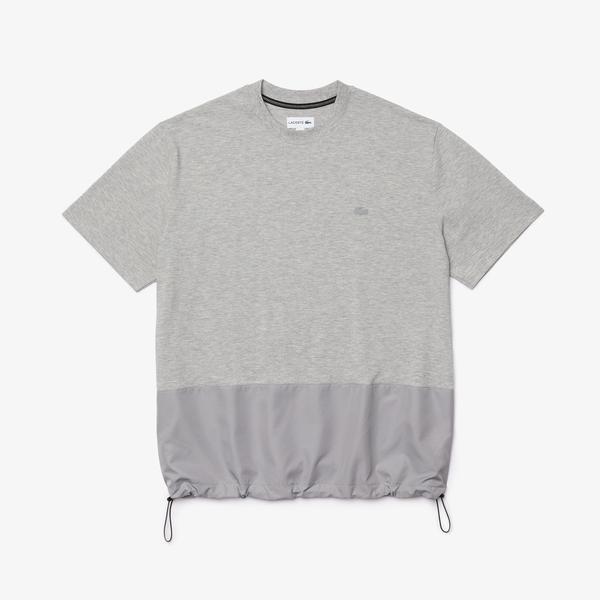 Lacoste Erkek Bisiklet Yaka Gri T-Shirt