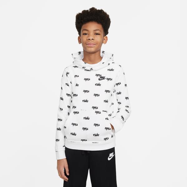 Nike Sportswear Script Çocuk Beyaz Sweatshirt
