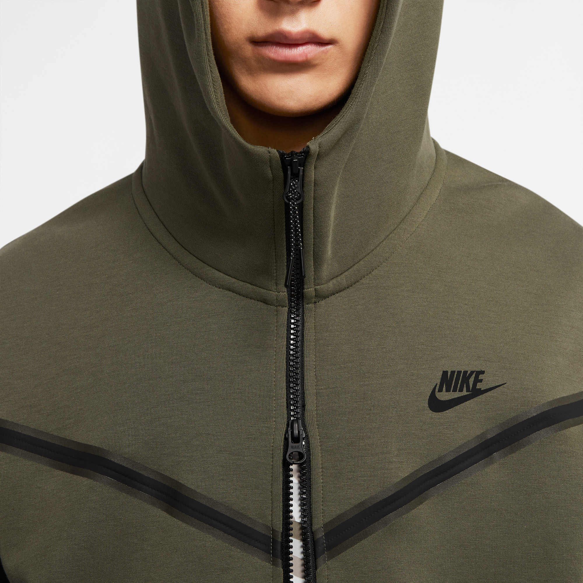 Nike Sportswear Tech Fleece Full-Zip Erkek Yeşil Sweatshirt