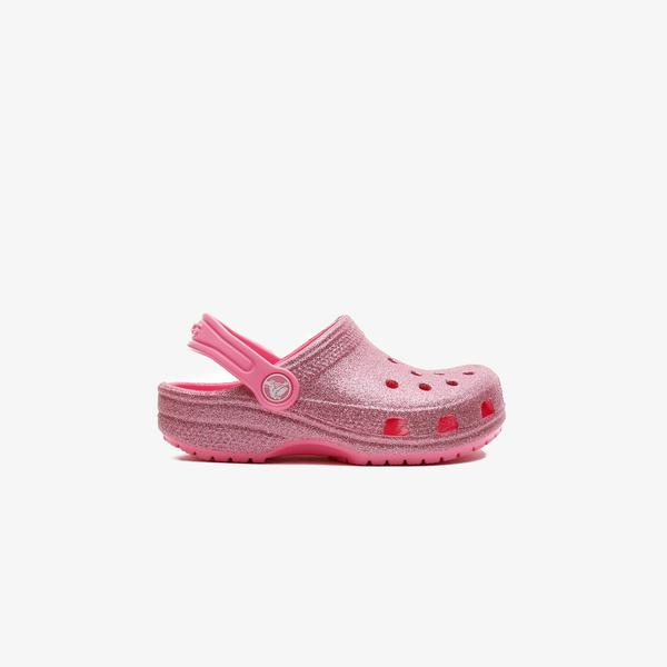 Crocs Classic Glitter Clog K Çocuk Pembe Terlik