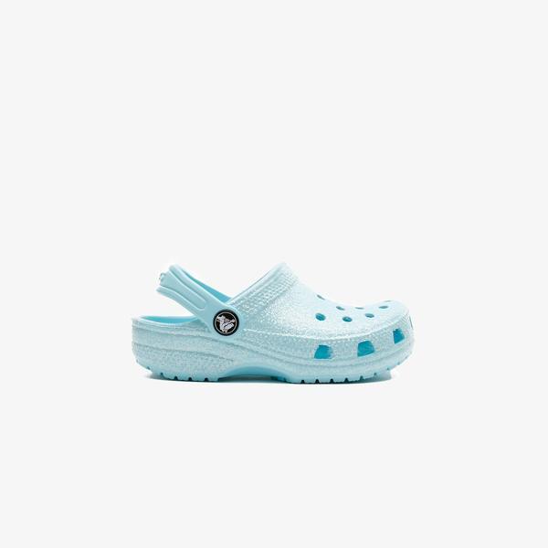 Crocs Classic Glitter Çocuk Mavi Terlik