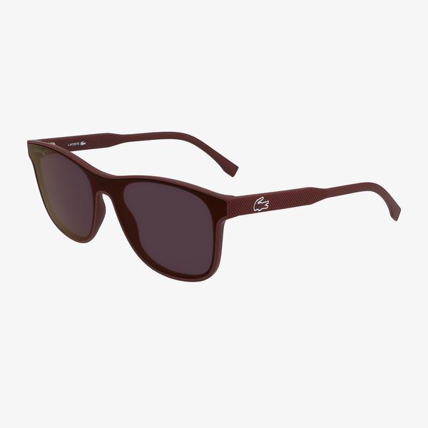 Lacoste Shield Erkek Bordo Güneş Gözlüğü