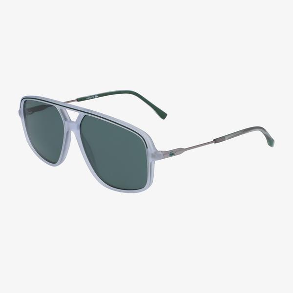 Lacoste Modified Rectangle Erkek Beyaz Güneş Gözlüğü
