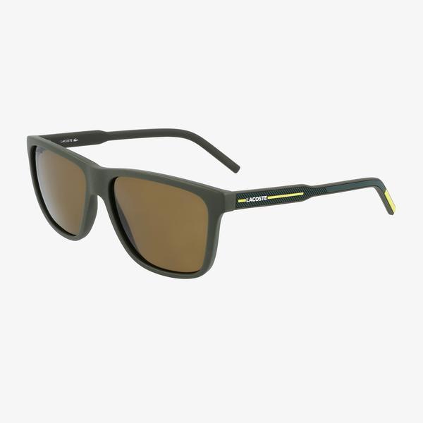 Lacoste Modified Rectangle Erkek Yeşil Güneş Gözlüğü