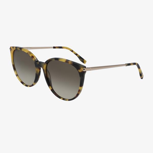 Lacoste Oval Kadın Kahverengi Güneş Gözlüğü