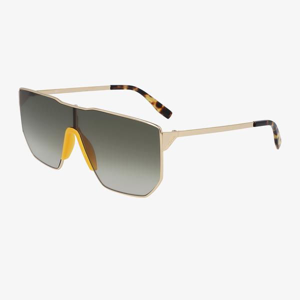 Lacoste Modified Rectangle Unisex Kahverengi Güneş Gözlüğü