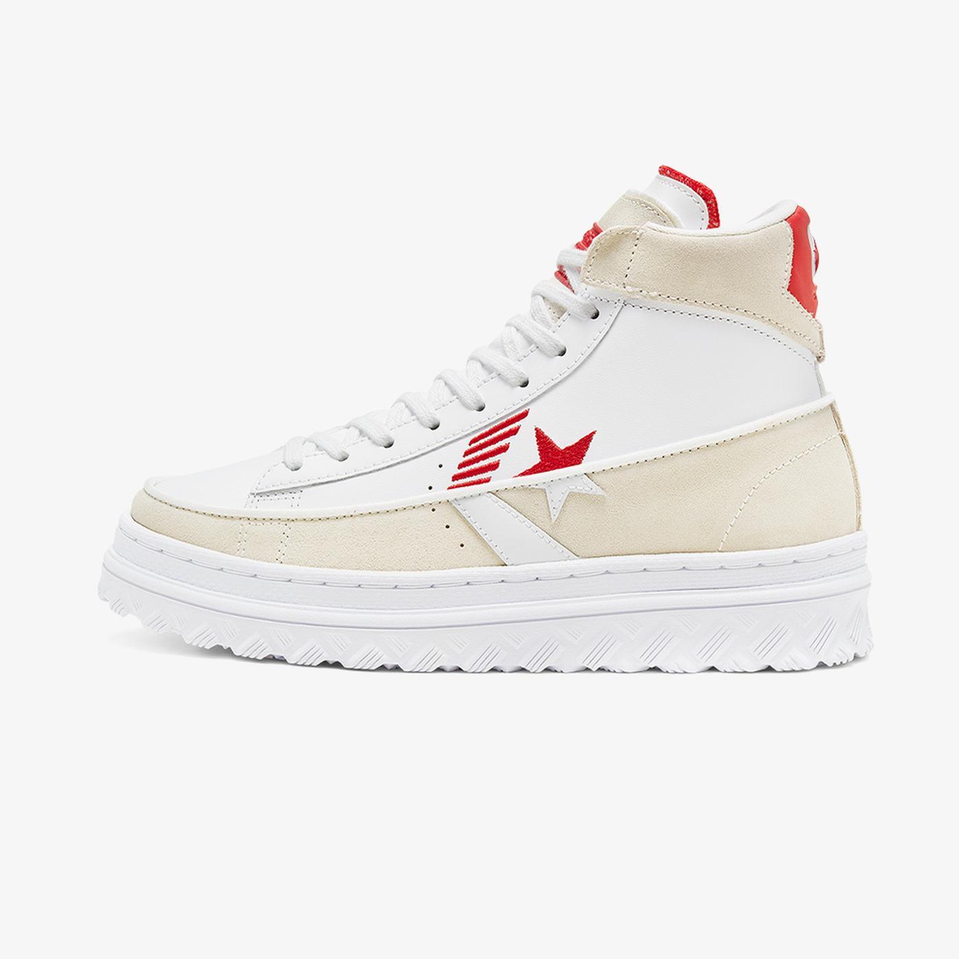 Converse Pro Leather Hacked Hi Kadın Beyaz Sneaker