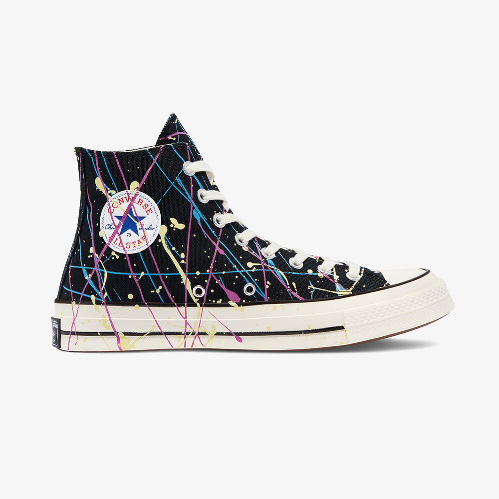 Converse Chuck 70 Paint Splatter Hi Unisex Siyah Sneaker