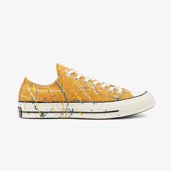 Converse Chuck 70 Paint Splatter Ox Kadın Sarı Sneaker