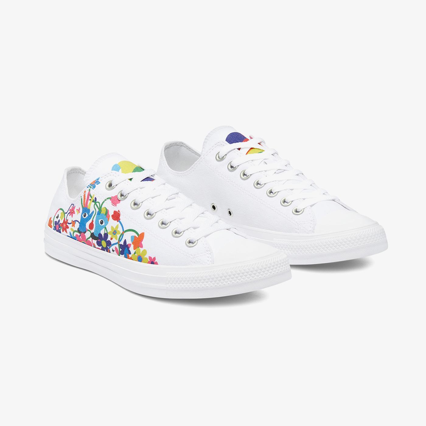 Converse Chuck Taylor All Star Pride Ox Kadın Beyaz Sneaker