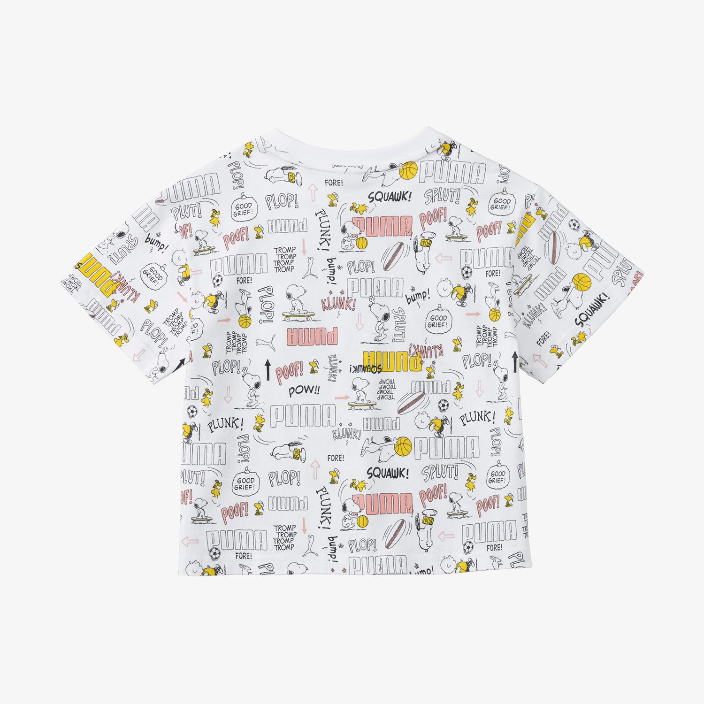 Puma X Peanuts Çocuk Renkli T-Shirt