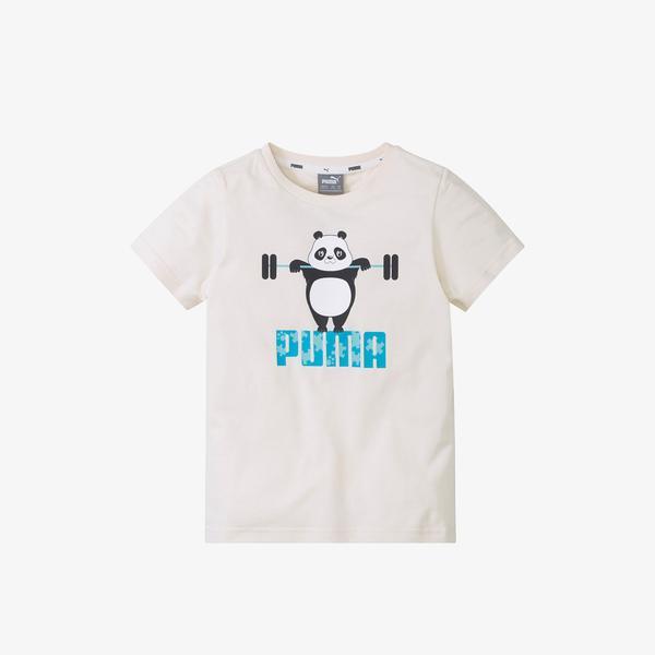 Puma Paw Çocuk Krem T-Shirt