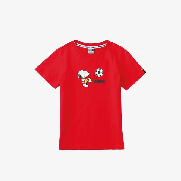 Puma X Peanuts Çocuk Kırmızı T-Shirt