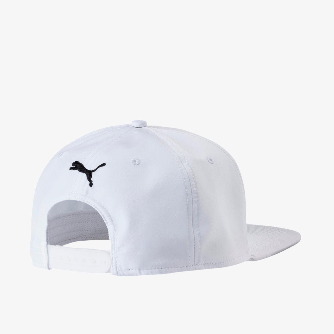 Puma Unisex Beyaz Düz Kenarlı Şapka