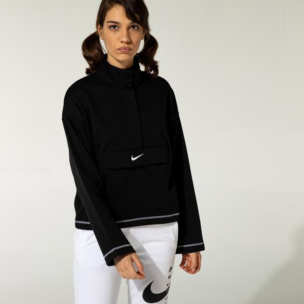 Nike Essential Swoosh Kadın Siyah Sweatshirt