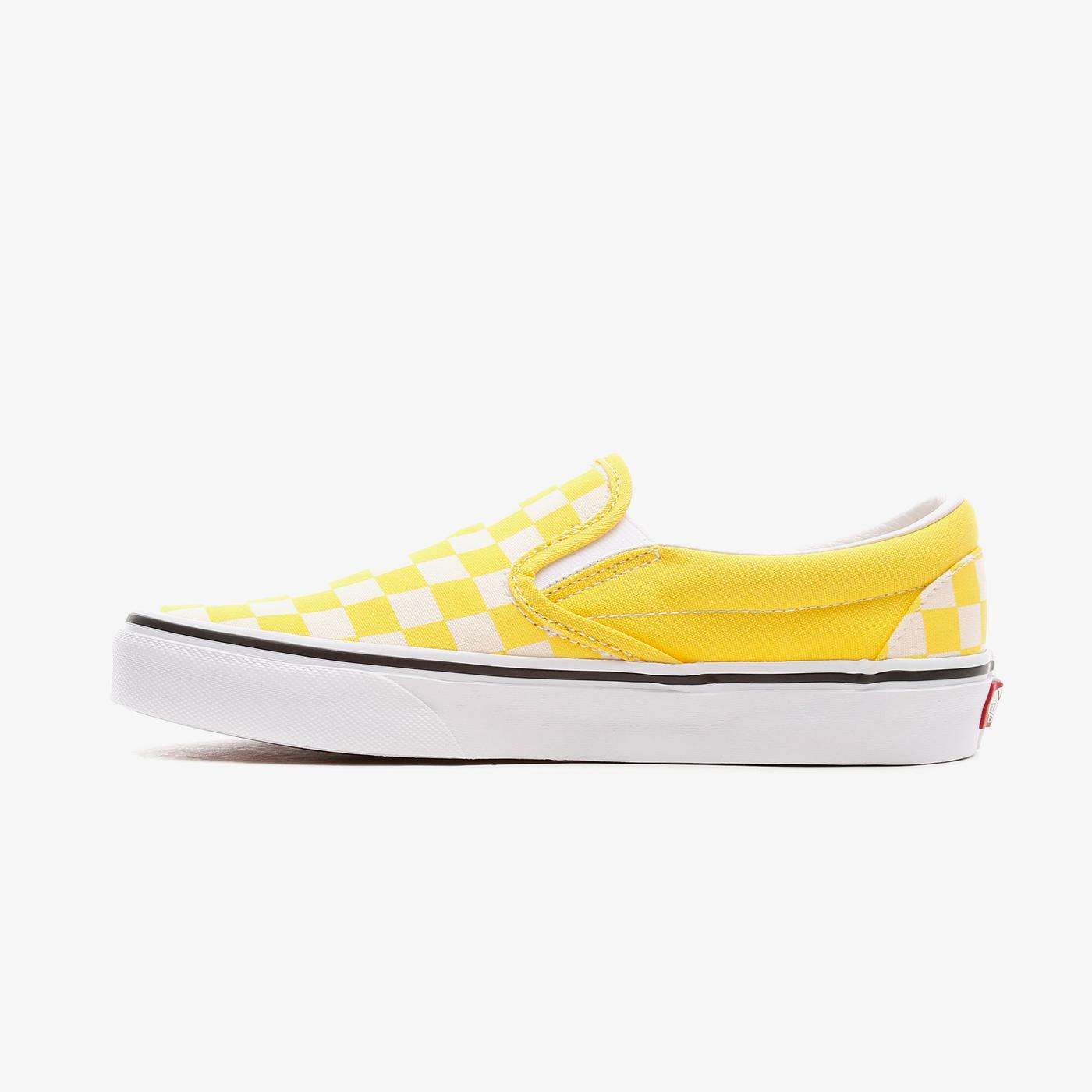 Vans Classic Slip-On Checkerboard Kadın Sarı Sneaker