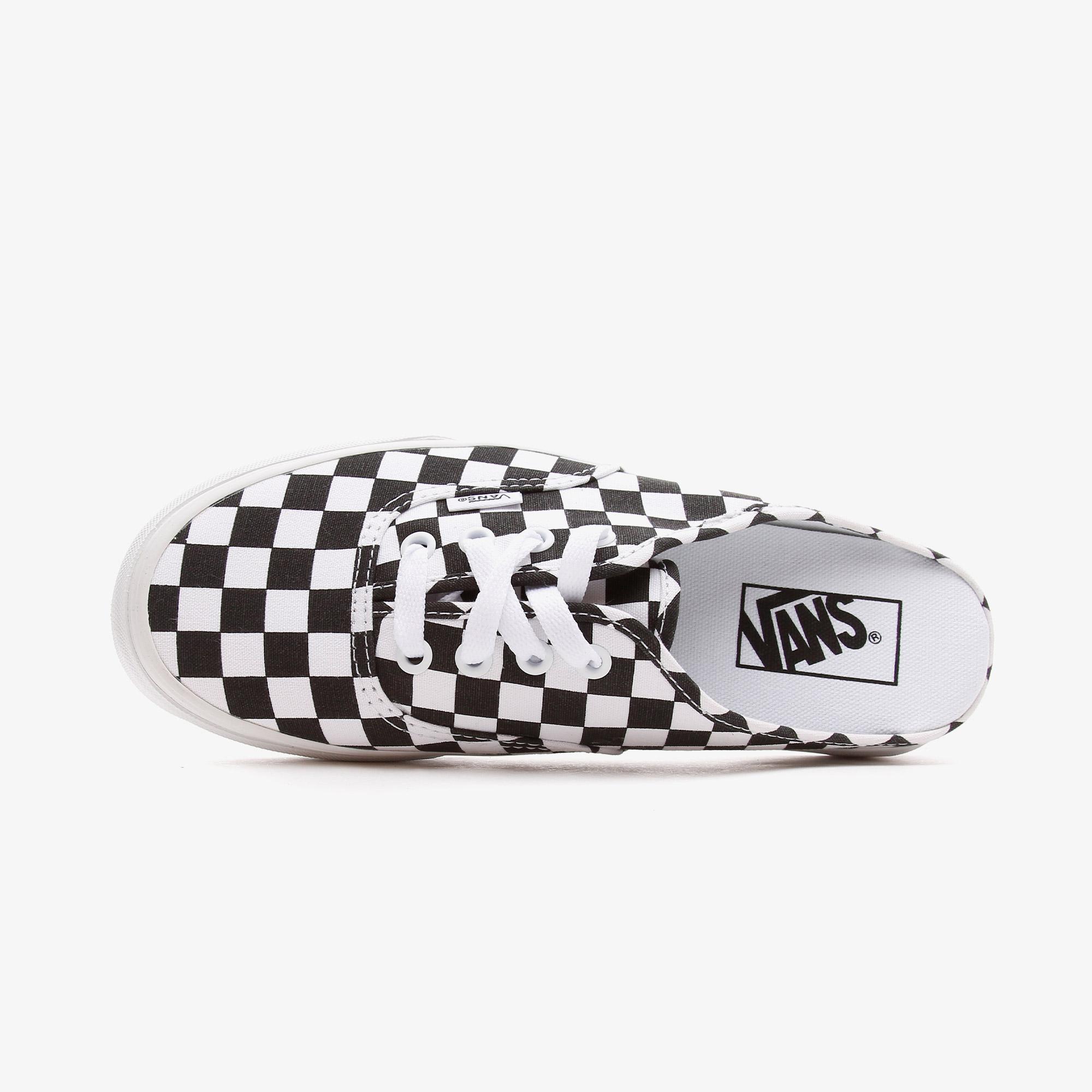 Vans Authentic Mule Checkerboard Kadın Siyah Sneaker