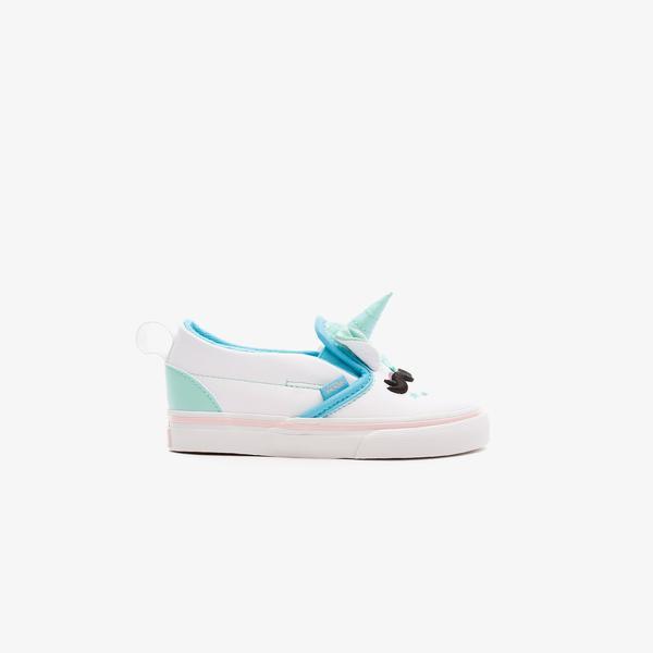 Vans Slip-On V Uni Çocuk Beyaz Sneaker