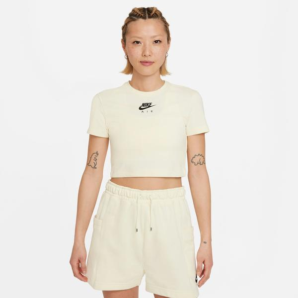 Nike Air Kadın Krem Crop T-Shirt