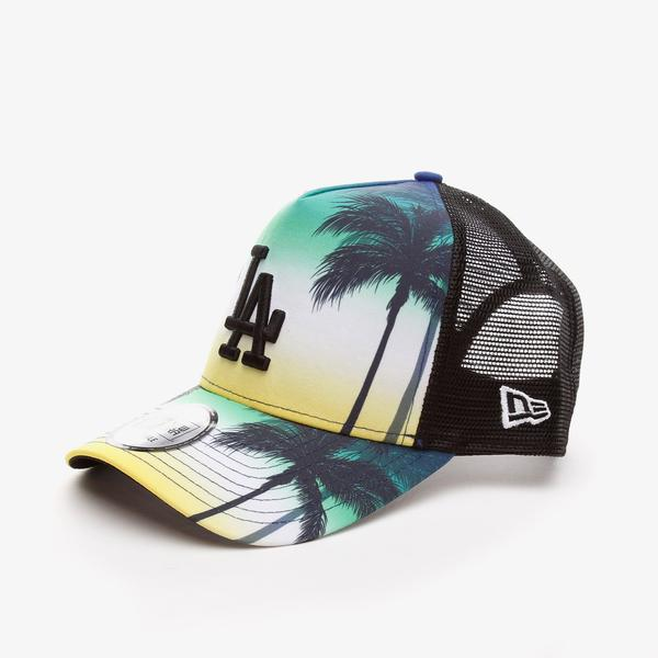 New Era Summer Cıty Trucker Losdod Unisex  Siyah Şapka