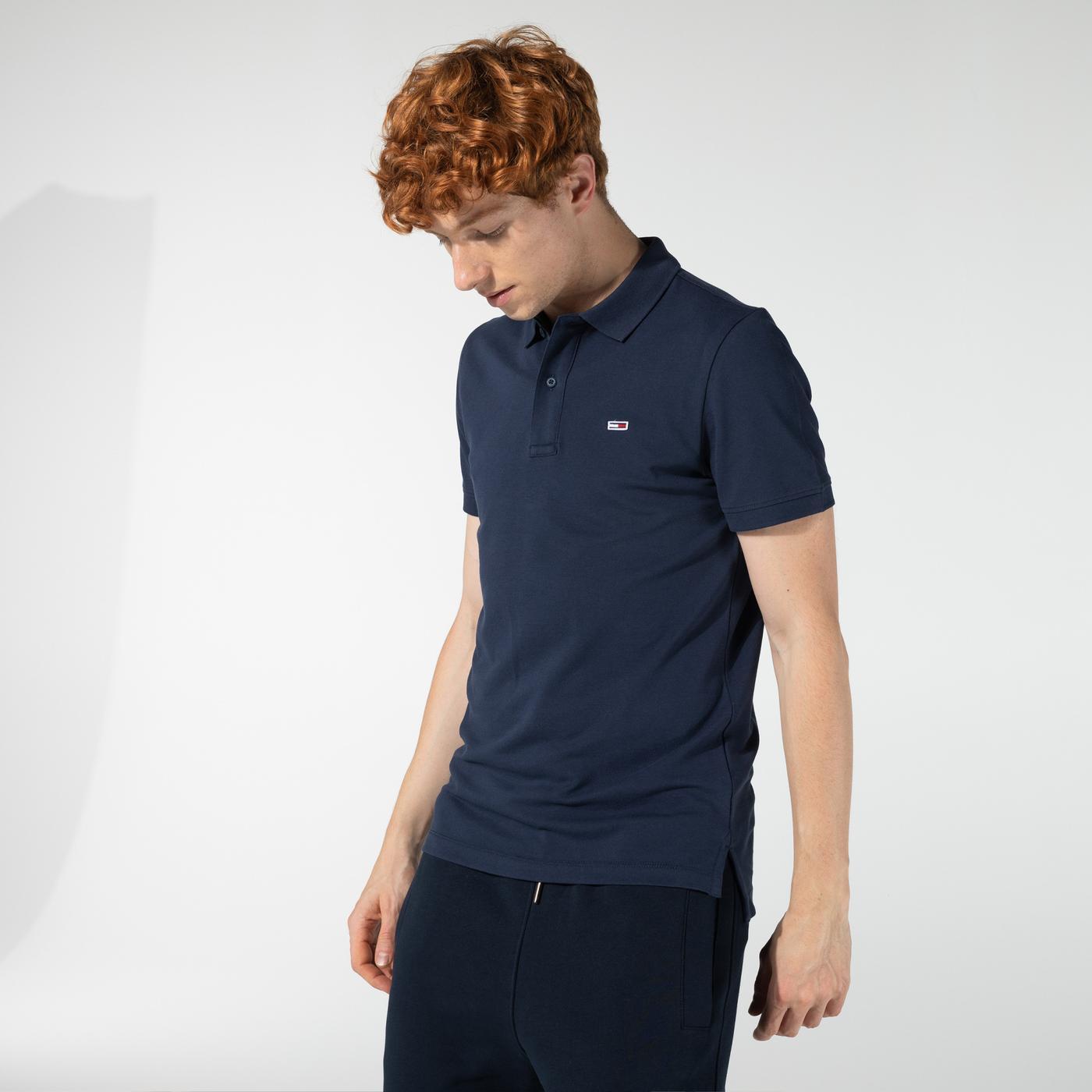 Tommy Hilfiger TJM Classics Solid Stretch Erkek Lacivert Polo