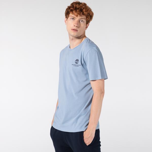 Timberland SS Story Telling Graphic Coastal Co Erkek Mavi T-Shirt