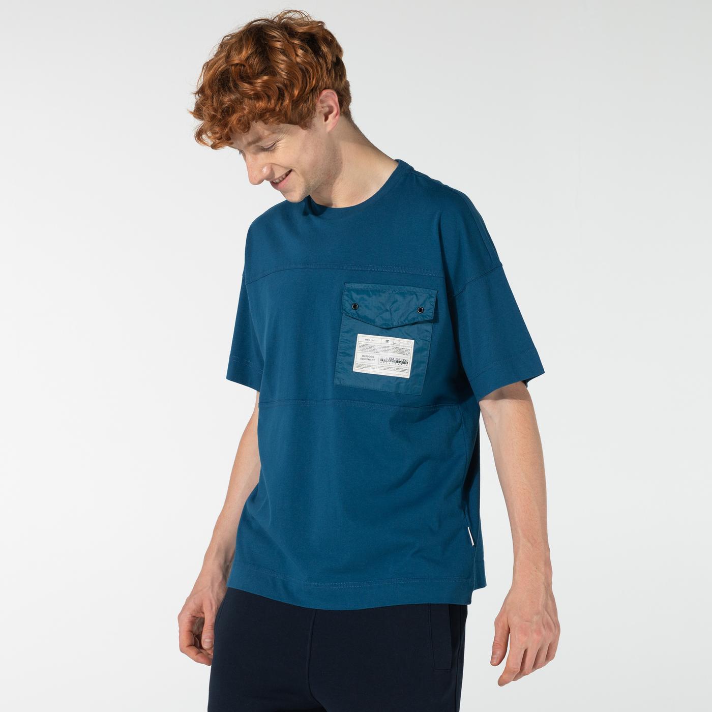 Napapijri Erkek Mavi T-Shirt