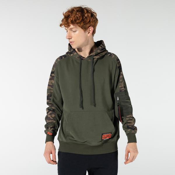 Ghetto Off Limits Unisex Yeşil Sweatshirt