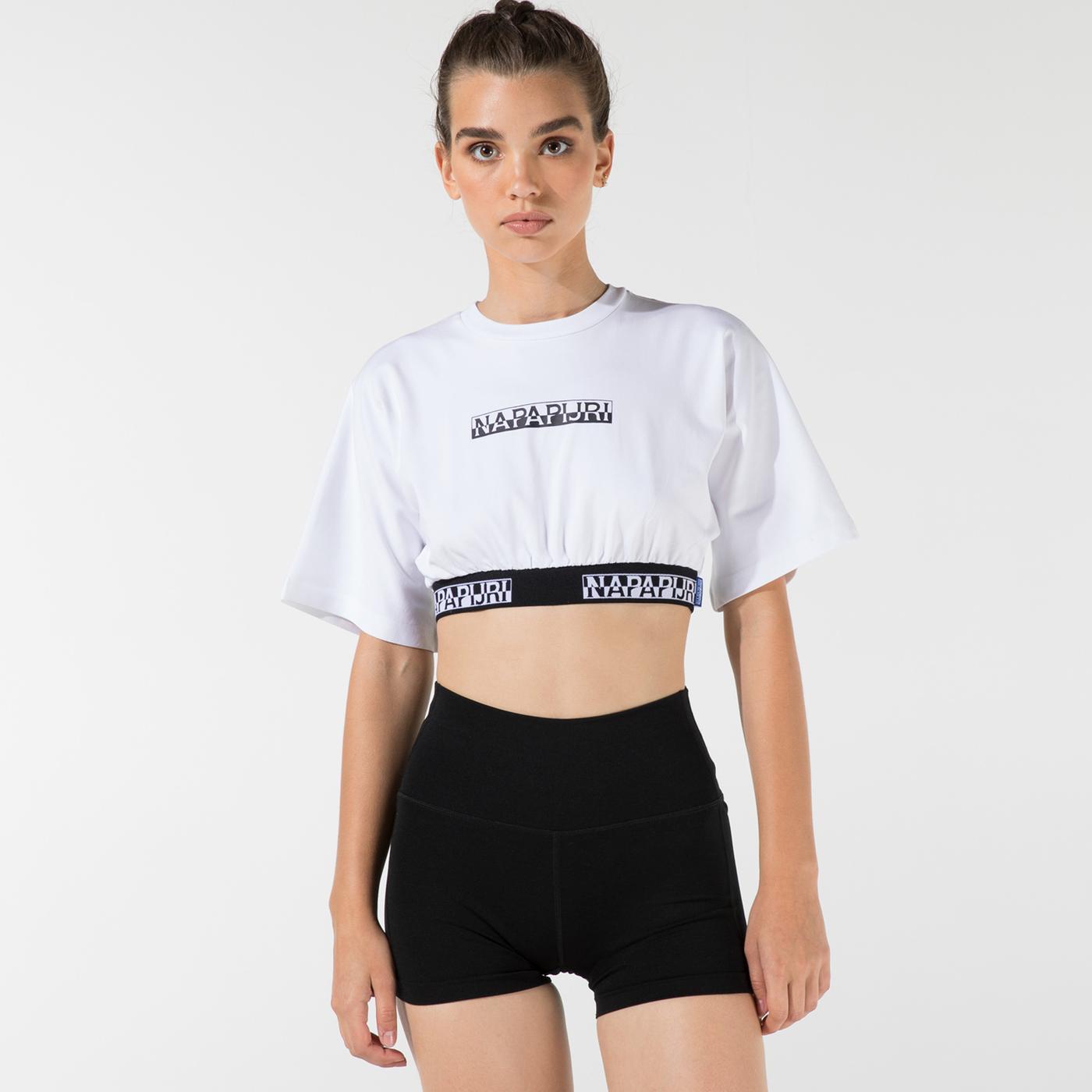 Napapijri Kadın Beyaz T-Shirt