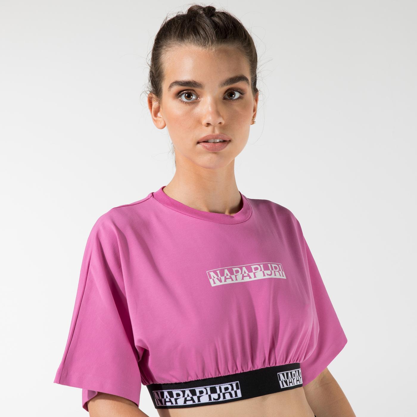 Napapijri Kadın Pembe T-Shirt