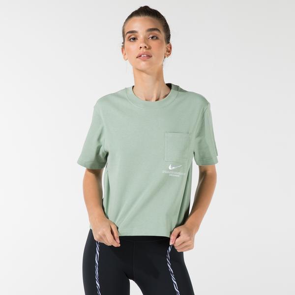 Nike Sportswear Swoosh Kadın Yeşil T-Shirt