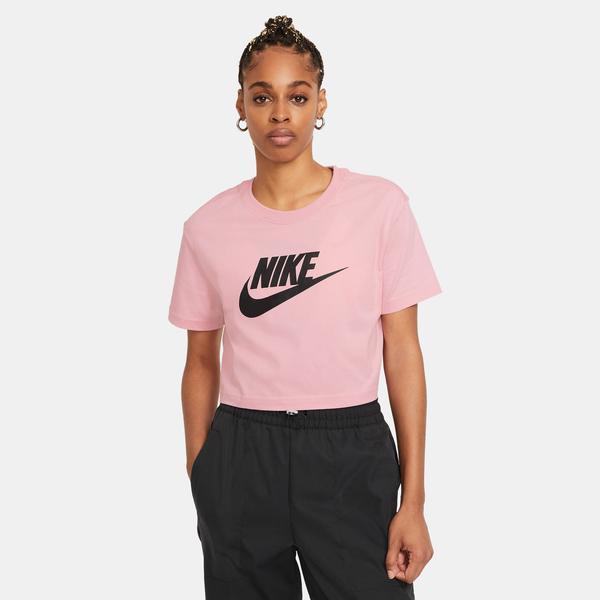 Nike Sportswear Essential Kadın Pembe Cropped T-Shirt